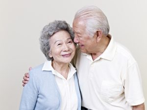 Senior Asian couple. It is important for caregivers to be cognizant of the role that diversity plays in dementia care.